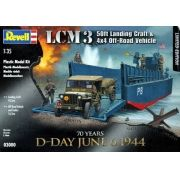 Lancha de desembarque LCM3 e Jeep - 1/35 - Revell 03000