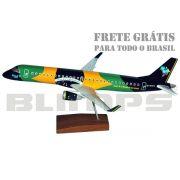 Maquete Embraer 195AR Azul (´Azul Brasileiro´) - 48 cm