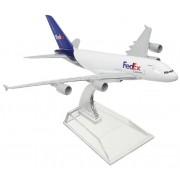Miniatura Airbus A380 FedEx - 16 cm