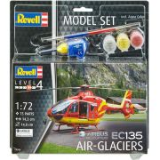 Model Set Airbus Helicopters EC135 Air-Glaciers - 1/72 - Revell 64986