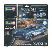 Model Set Corvette Roadster 1958 - 1/25 - Revell 67037
