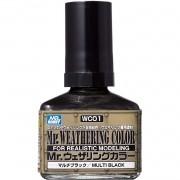 Mr.Weathering Color Multi Black - Mr.Hobby WC01