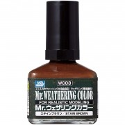 Mr.Weathering Color Stain Brown - Mr.Hobby WC03