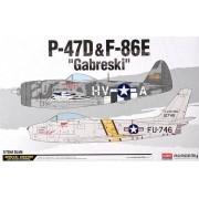 """P-47D e F-86E """"Gabreski"""" - 1/72 - Academy 12530"""