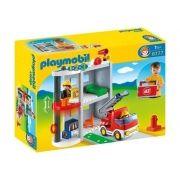 Playmobil 1-2-3 - Maleta Estação de Bombeiro - 6777