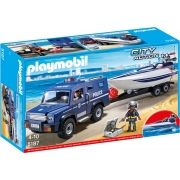 Playmobil City Action - Caminhão Policial com Lancha - 5187