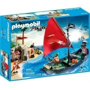 Playmobil Pirates - Navio Pirata com Soldados - 5646