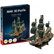 Quebra-cabeça 3D (3D Puzzle) Navio Pirata - Revell 00115