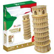 Quebra-cabeça 3D (3D Puzzle) Torre de Pisa - Cubic Fun MC053h