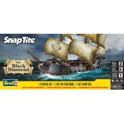 SnapTite The Black Diamond Pirate Ship - 1/350 - Revell 85-1971