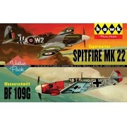 Spitfire Mk.22 e Bf109G - 1/72 - Hawk HL445