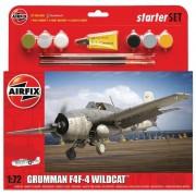 Starter Set Grumman F4F-4 Wildcat - 1/72 - Airfix A55214