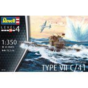 Submarino alemão Type VII C/41 - 1/350 - Revell 05154