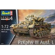 Tanque Panzer PzKpfw III Ausf. L - 1/72 - Revell 03251