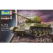 Tanque soviético T-34/85 - 1/72 - Revell 03302