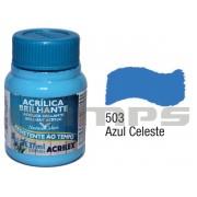 Tinta Acrílica Brilhante 503 Azul Celeste (37 ml) - Acrilex 033400503