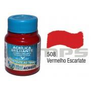 Tinta Acrílica Brilhante 508 Vermelho Escalarte (37 ml) - Acrilex 033400508