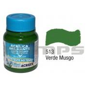 Tinta Acrílica Brilhante 513 Verde Musgo (37 ml) - Acrilex 033400513