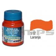 Tinta Acrílica Brilhante 517 Laranja (37 ml) - Acrilex 033400517