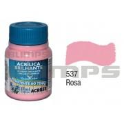 Tinta Acrílica Brilhante 537 Rosa (37 ml) - Acrilex 033400537