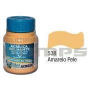Tinta Acrílica Brilhante 538 Amarelo Pele (37 ml) - Acrilex 033400538