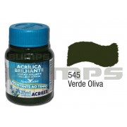 Tinta Acrílica Brilhante 545 Verde Oliva (37 ml) - Acrilex 033400545
