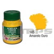 Tinta Acrílica Fosca 505 Amarelo Ouro (37 ml) - Acrilex 035400505