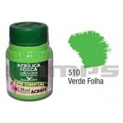 Tinta Acrílica Fosca 510 Verde Folha (37 ml) - Acrilex 035400510