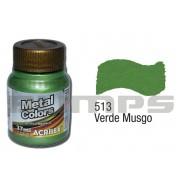 Tinta Acrílica Metalizada (Metal Color) 513 Verde Musgo (37 ml) - Acrilex 036400513