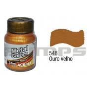 Tinta Acrílica Metalizada (Metal Color) 548 Ouro Velho (37 ml) - Acrilex 036400548