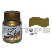 Tinta Acrílica Metalizada (Metal Color) 556 Bronze (37 ml) - Acrilex 036400556