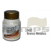 Tinta Acrílica Metalizada (Metal Color) 562 Branco Metálico (37 ml) - Acrilex 036400562
