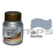Tinta Acrílica Metalizada (Metal Color) 599 Alumínio (37 ml) - Acrilex 036400599