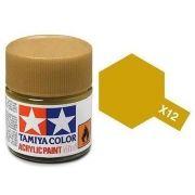 Tinta Acrílica Mini X-12 Folha de Ouro (10 ml) - Tamiya 81512