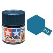 Tinta Acrílica Mini X-13 Azul Metálico (10 ml) - Tamiya 81513