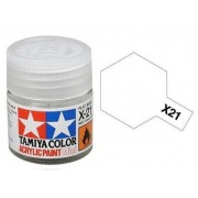 Tinta Acrílica Mini X-21 Flat Base (10 ml) - Tamiya 81521