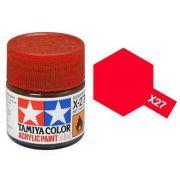 Tinta Acrílica Mini X-27 Vermelho Claro (10 ml) - Tamiya 81527