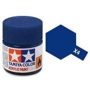 Tinta Acrílica Mini X-4 Azul (10 ml) - Tamiya 81504