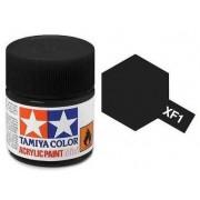 Tinta Acrílica Mini XF-1 Preto Fosco (10 ml) - Tamiya 81701