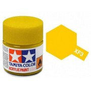 Tinta Acrílica Mini XF-3 Amarelo Fosco (10 ml) - Tamiya 81703