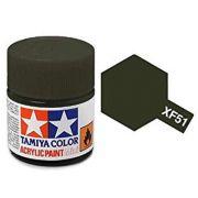 Tinta Acrílica Mini XF-51 Caqui fosco (10 ml) - Tamiya 81751