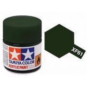 Tinta Acrílica Mini XF-61 Verde escuro (10 ml) - Tamiya 81761