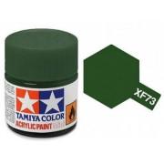 Tinta Acrílica Mini XF-73 Verde Escuro (10 ml) - Tamiya 81773