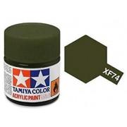Tinta Acrílica Mini XF-74 Verde Oliva (10 ml) - Tamiya 81774