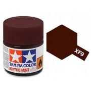 Tinta Acrílica Mini XF-9 Vermelho Escuro (10 ml) - Tamiya 81709