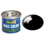 Tinta Sintética Revell Email Color Preto Brilhante - Revell 32107