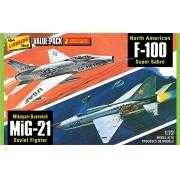 Vietnan Era Fighters - F-100 e MiG-21 - 1/72 - Lindberg HL432