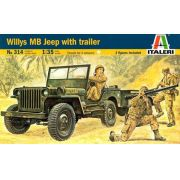 Willys MB Jeep with Trailer - 1/35 - Italeri 314