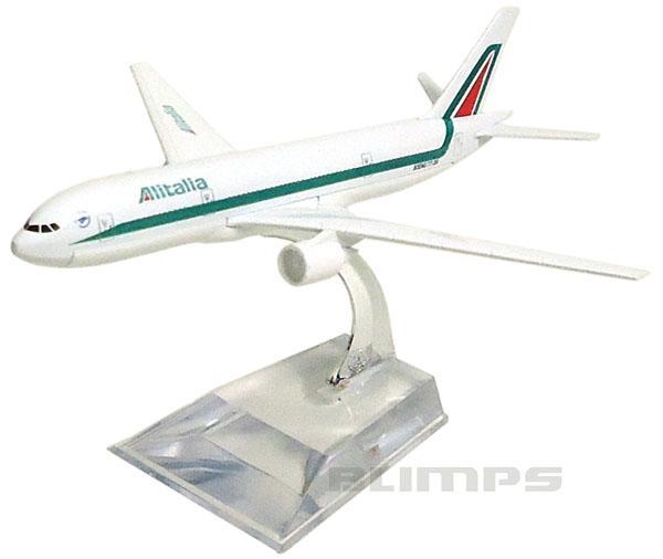 Miniatura Boeing 777 Alitalia - 16 cm  - BLIMPS COMÉRCIO ELETRÔNICO
