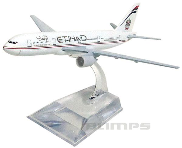 Miniatura Boeing 777 Etihad - 16 cm  - BLIMPS COMÉRCIO ELETRÔNICO